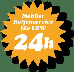 Mobiler 24h Reifenservice für LKW